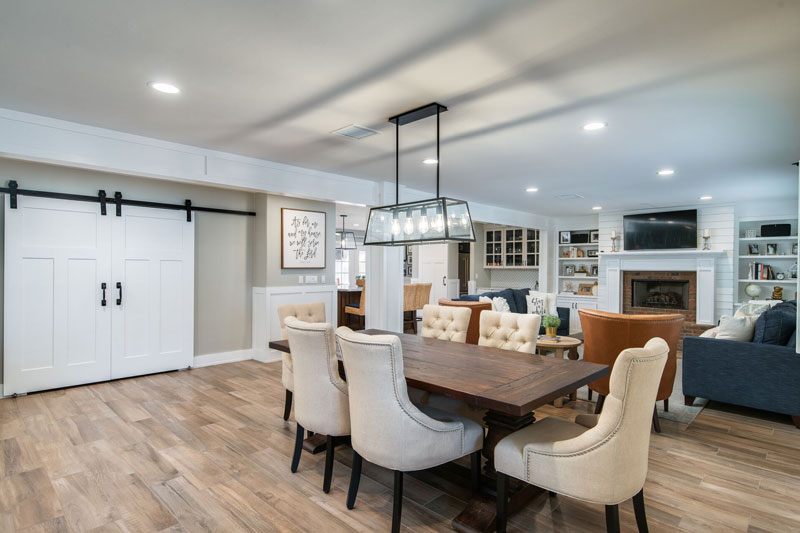 newly remodeled home dining area